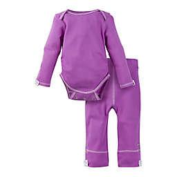 MiracleWear Posheez Size 12-18M 2-Piece Snap'n Grow Long Sleeve Bodysuit and Pant Set in Purple