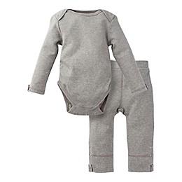 MiracleWear Posheez 2-Piece Snap'n Grow Long Sleeve Bodysuit and Pant Set