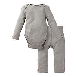 MiracleWear Posheez Size 12-18M 2-Piece Snap'n Grow Long Sleeve Bodysuit and Pant Set in Purple