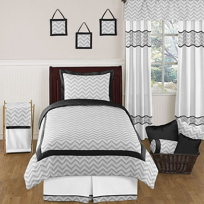 Sweet Jojo Designs Zig Zag Bedding Collection In Grey