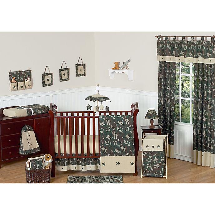 Alternate image 1 for Sweet Jojo Designs Camo 11-Piece Crib Bedding Set in Green