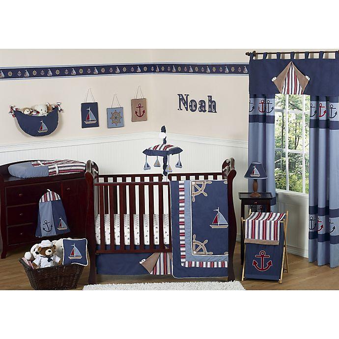 Alternate image 1 for Sweet Jojo Designs Nautical Nights Crib Bedding Collection