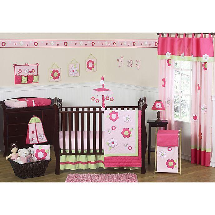 Sweet jojo designs flower crib bedding collection in pinkgreen sweet jojo designs flower crib bedding collection in pinkgreen mightylinksfo