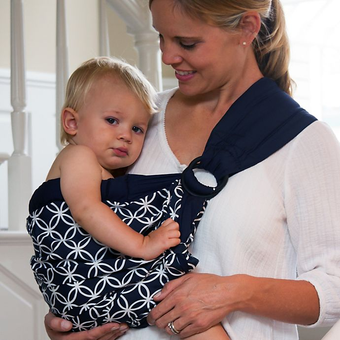 3b712f3fc2d Balboa Baby® Dr. Sears Original Adjustable Baby Sling in Navy White Circle