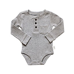 Planet Cotton® Crew Neck Long Sleeve Henley Thermal Bodysuit