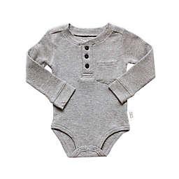 Planet Cotton® Crew Neck Long Sleeve Henley Thermal Bodysuit