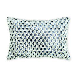 Coastal Life Sea Drift Oblong Throw Pillow in Blue