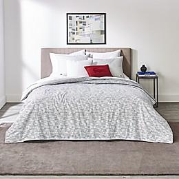 Lacoste Bukit 3-Piece Reversible Duvet Cover Set in White/Grey