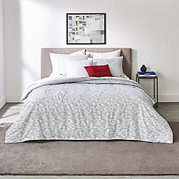 Lacoste Bukit 3-Piece Reversible Duvet Cover Set in White/Grey