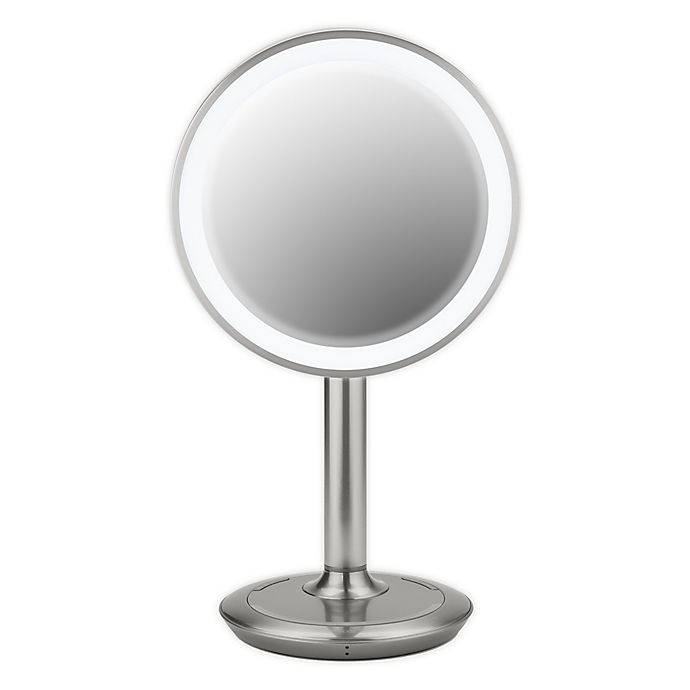 Alternate image 1 for iHome® 9-Inch Vanity Mirror with Bluetooth® Speaker and USB Port in Silver/Nickel