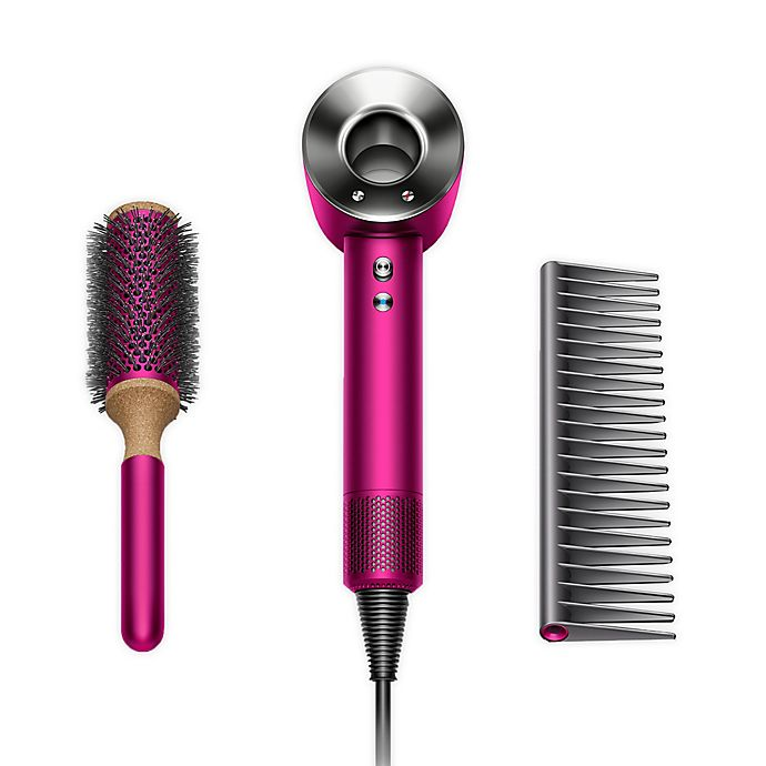 Alternate image 1 for Dyson Supersonic™ Hair Dryer Gift Edition in Fuchsia/Nickel