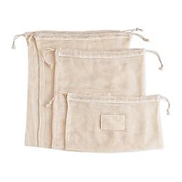 Beyond Gourmet™ 5-Piece Reusable Organic Cotton Produce Bag Set