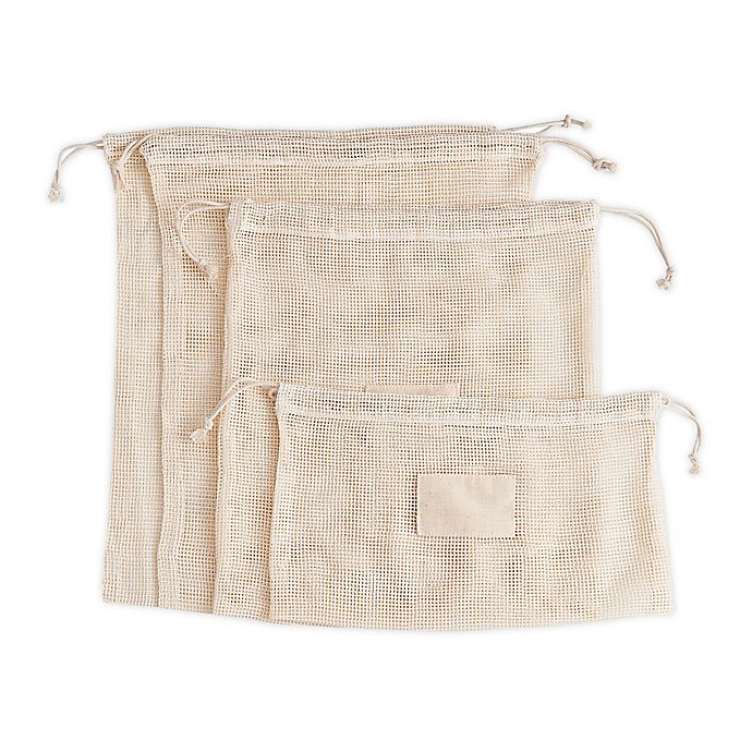 Alternate image 1 for Beyond Gourmet™ 5-Piece Reusable Organic Cotton Produce Bag Set