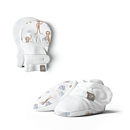 goumi® 2-Piece Dreams Full of Wonder Mitts and Bootie Set in White/Grey