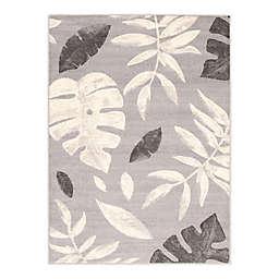 ECARPETGALLERY Presly 7'10 x 10'2 Indoor/Outdoor Area Rug in Silver/Grey