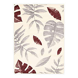 ECARPETGALLERY Presly 3'11 x 5'7 Indoor/Outdoor Area Rug in Cream/Burgundy