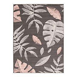 ECARPETGALLERY Presly 7'10 x 10'2 Indoor/Outdoor Area Rug in Grey/Pink