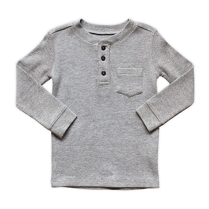 Alternate image 1 for Planet Cotton® Crew Neck Long Sleeve Thermal Henley T-Shirt with Pocket