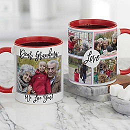 Love Photo Collage Personalized Coffee Mug for Her 11 oz.