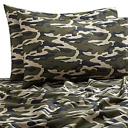 SALT™ Camo 300-Thread-Count Standard Pillowcases in Green (Set of 2)