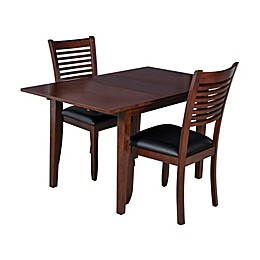 TTP Furnish Armstrong 3-Piece Rectangle Dining Set in Espresso