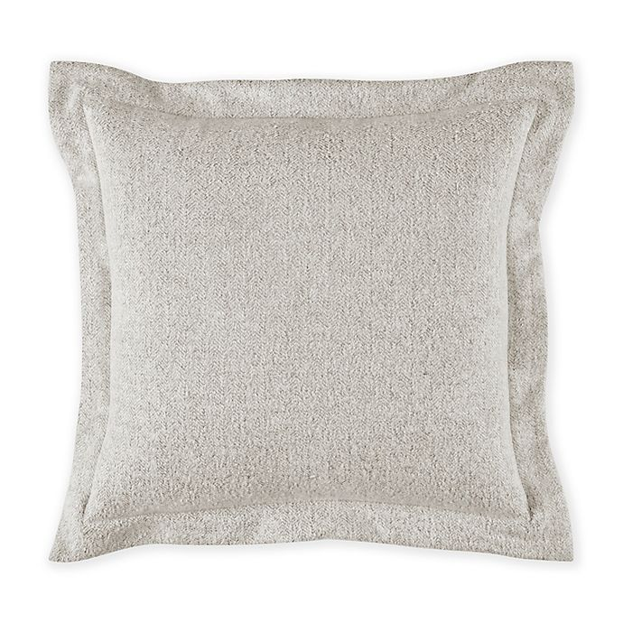 Alternate image 1 for Bridge Street Herringbone Square Throw Pillow in Mist