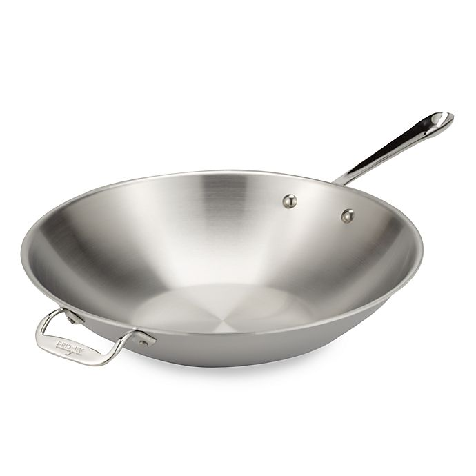 Alternate image 1 for All-Clad Stainless Steel 14-Inch Stir Fry Pan