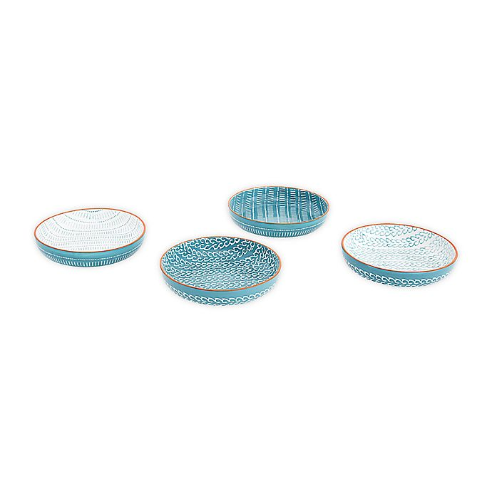 Alternate image 1 for Baum Tangiers Dinner Bowls in Turquoise (Set of 4)
