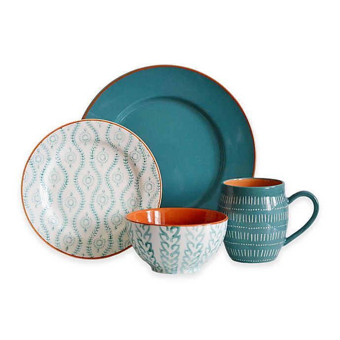 Alternate image 1 for Baum Tangiers Dinnerware Collection in Turquoise