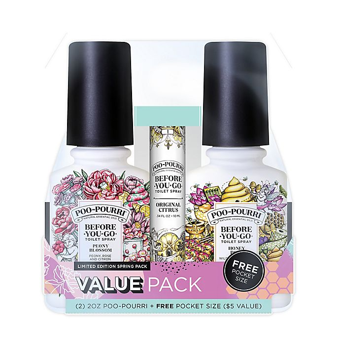 Alternate image 1 for Poo-Pourri® Before-You-Go® Spring 3-Pack Toilet Spray Set