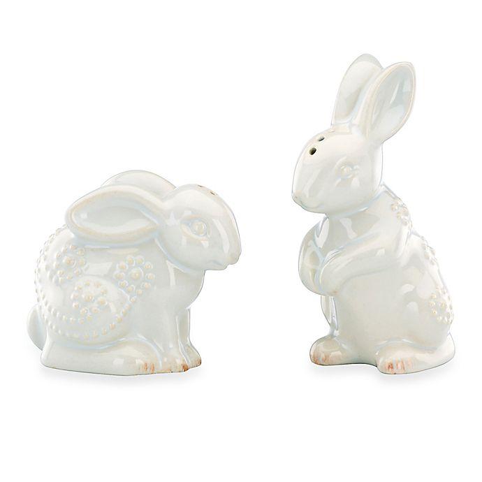 Alternate image 1 for Lenox® French Perle Rabbit 4.5-Inch Salt and Pepper Set