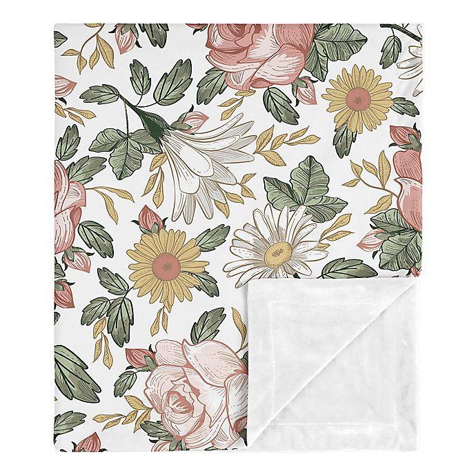 Alternate image 1 for Sweet Jojo Designs Vintage Floral Security Blanket in Pink/Green