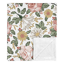 Sweet Jojo Designs Vintage Floral Security Blanket in Pink/Green