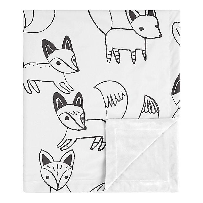 Alternate image 1 for SWEET JOJO DESIGNS Fox Security Blanket in Black/White