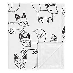 SWEET JOJO DESIGNS Fox Security Blanket in Black/White