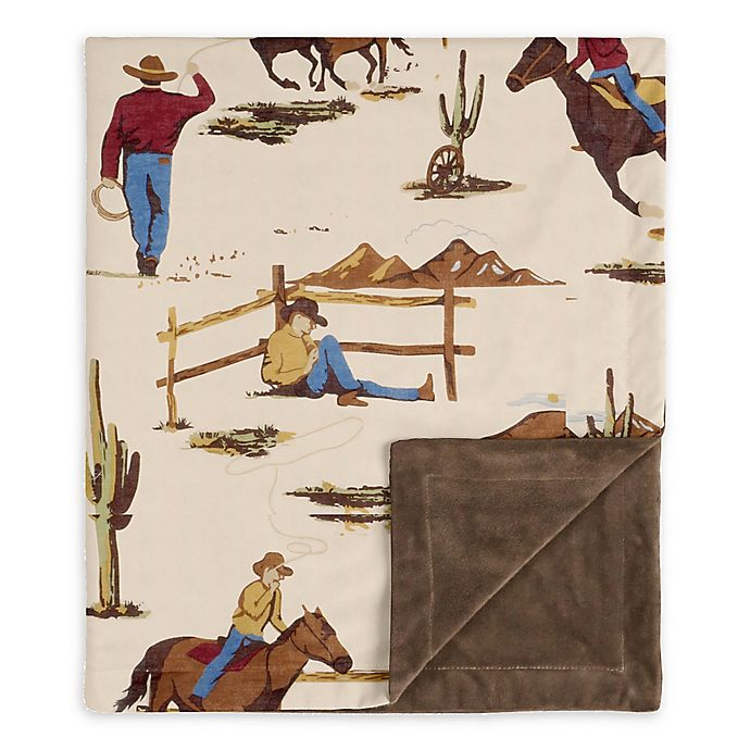 Alternate image 1 for SWEET JOJO DESIGNS Wild West Security Blanket in Brown/Red