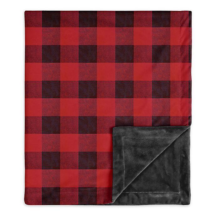 Alternate image 1 for SWEET JOJO DESIGNS Lumberjack Security Blanket in Red/Black
