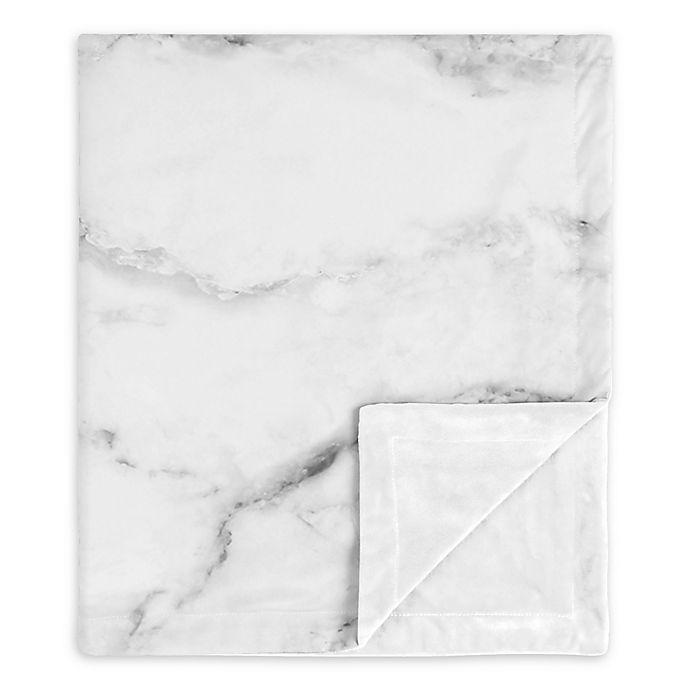 Alternate image 1 for SWEET JOJO Designs Marble Security Blanket in Black/White