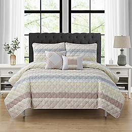 Cranton 5-Piece Striped Quilt Set