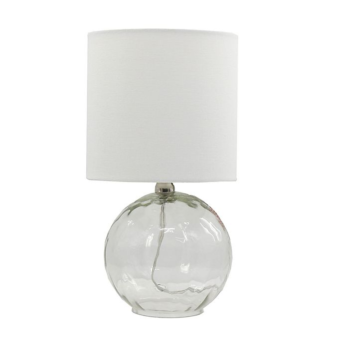 Alternate image 1 for Bee & Willow™ Home Glass Accent Lamp with Linen Shade