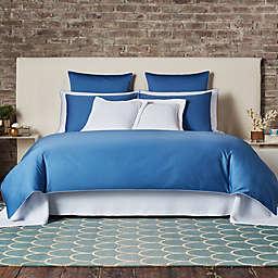 Frette At Home Post Modern Queen Duvet Cover in Blue/White