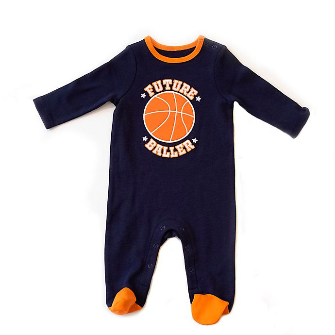 Alternate image 1 for Sterling Baby Basketball Footie in Blue