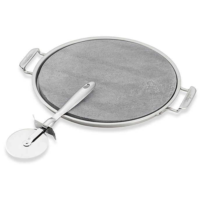 Alternate image 1 for All-Clad 3-Piece Pizza Stone and Pizza Cutter Set