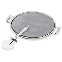 All-Clad 3-Piece Pizza Stone and Pizza Cutter Set
