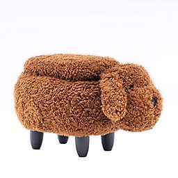 Dog Faux Fur Storage Ottoman