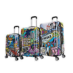 InUSA Prints Hollywood Hardside Spinner Luggage Collection