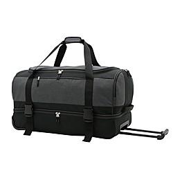 Salt 30-Inch Drop-Bottom Rolling Duffle Bag in Black
