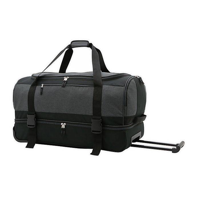 Salt 30 Inch Drop Bottom Rolling Duffle Bag In Black Bed Bath Beyond