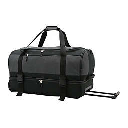 SALT™ 30-Inch Drop-Bottom Rolling Duffle Bag in Black