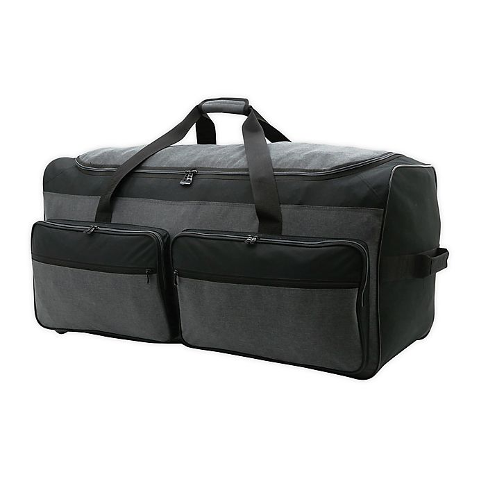 Alternate image 1 for Salt 36-Inch Extra-Large Rolling Duffle Bag in Black